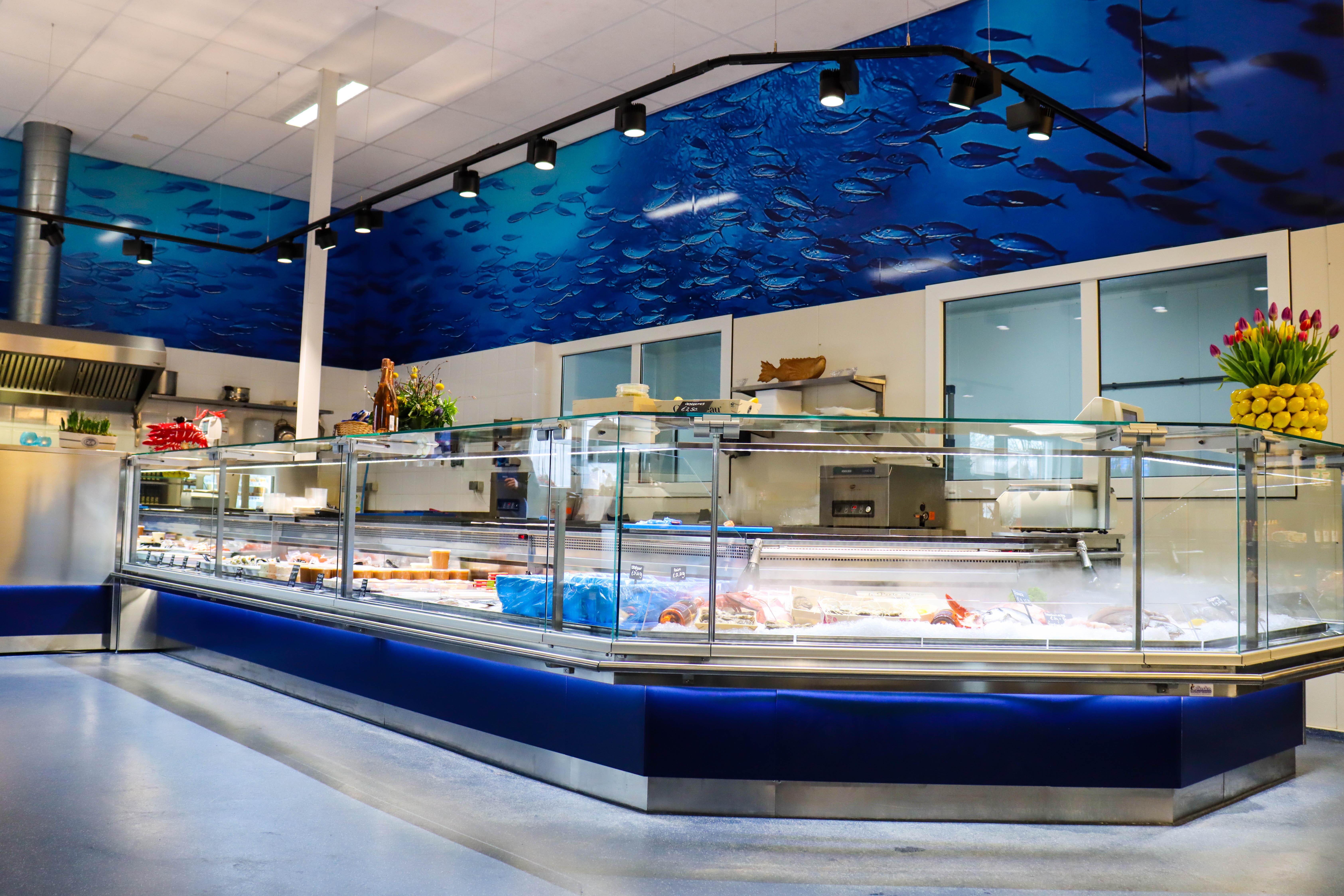 De verbouwing van onze viswinkel